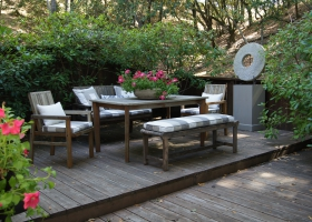 Deck surrounded by open space preserve